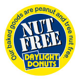Daylight Donuts Raleigh serves peanut and tree nut free products